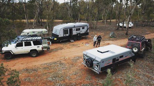 Caravans parked